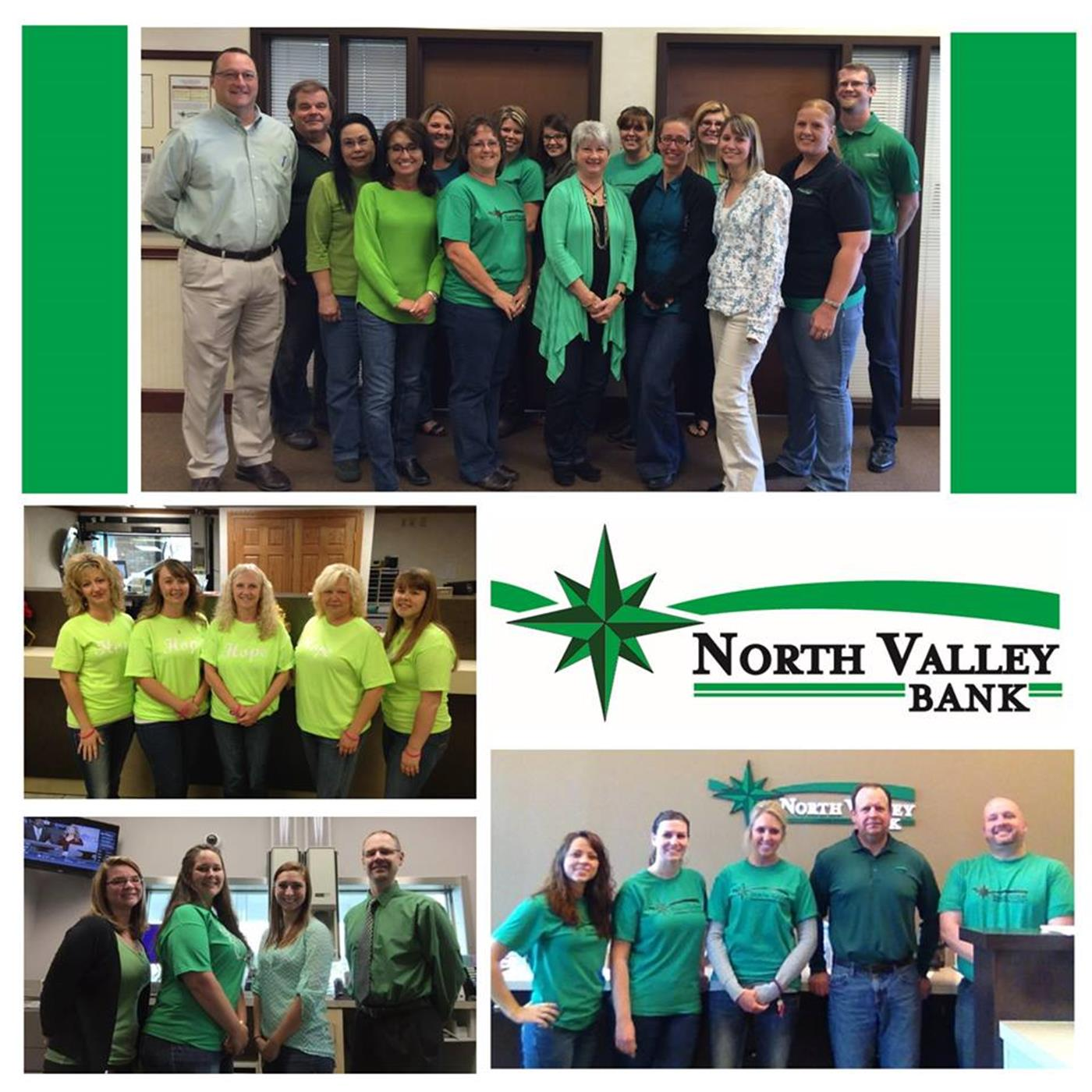 North Valley Bank Green For Hope